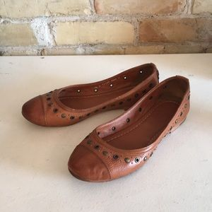 Frye brown leather flats